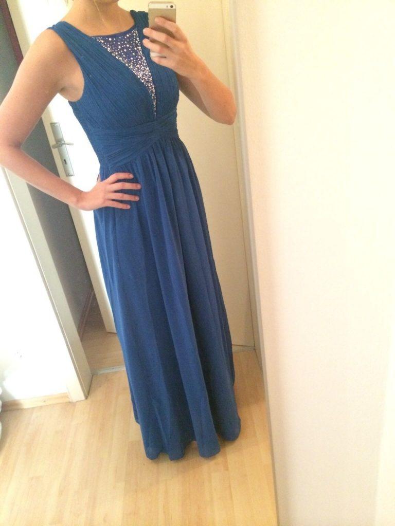 Luxurius Abendkleid Blau Glitzer Boutique - Abendkleid