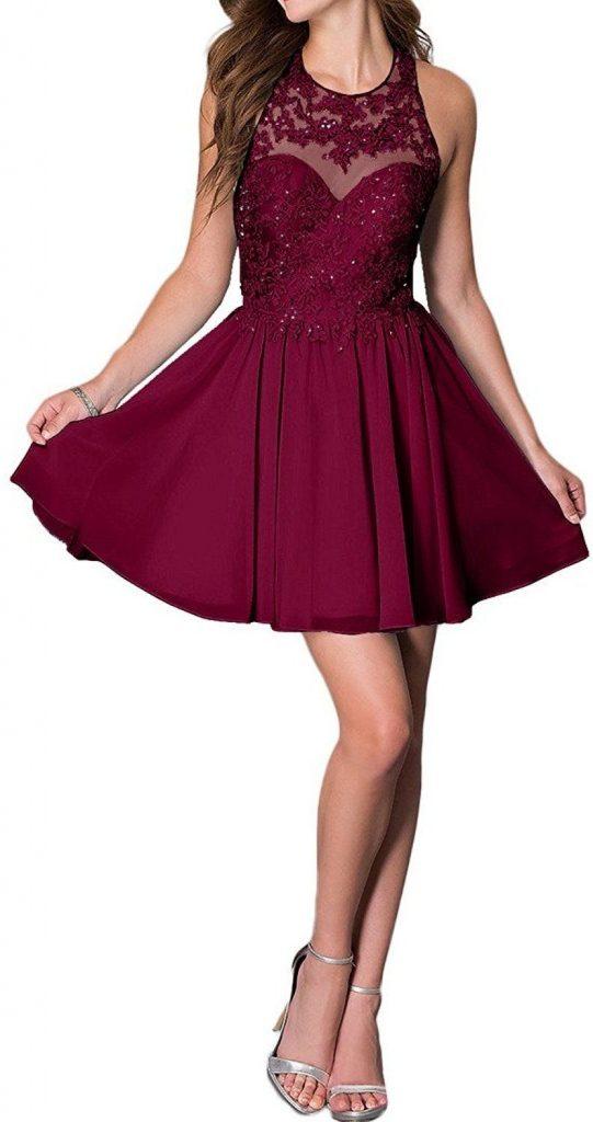 große Auswahl verschiedene Arten von populärer Stil Luxus Abendkleider Kurz Damen Stylish - Abendkleid