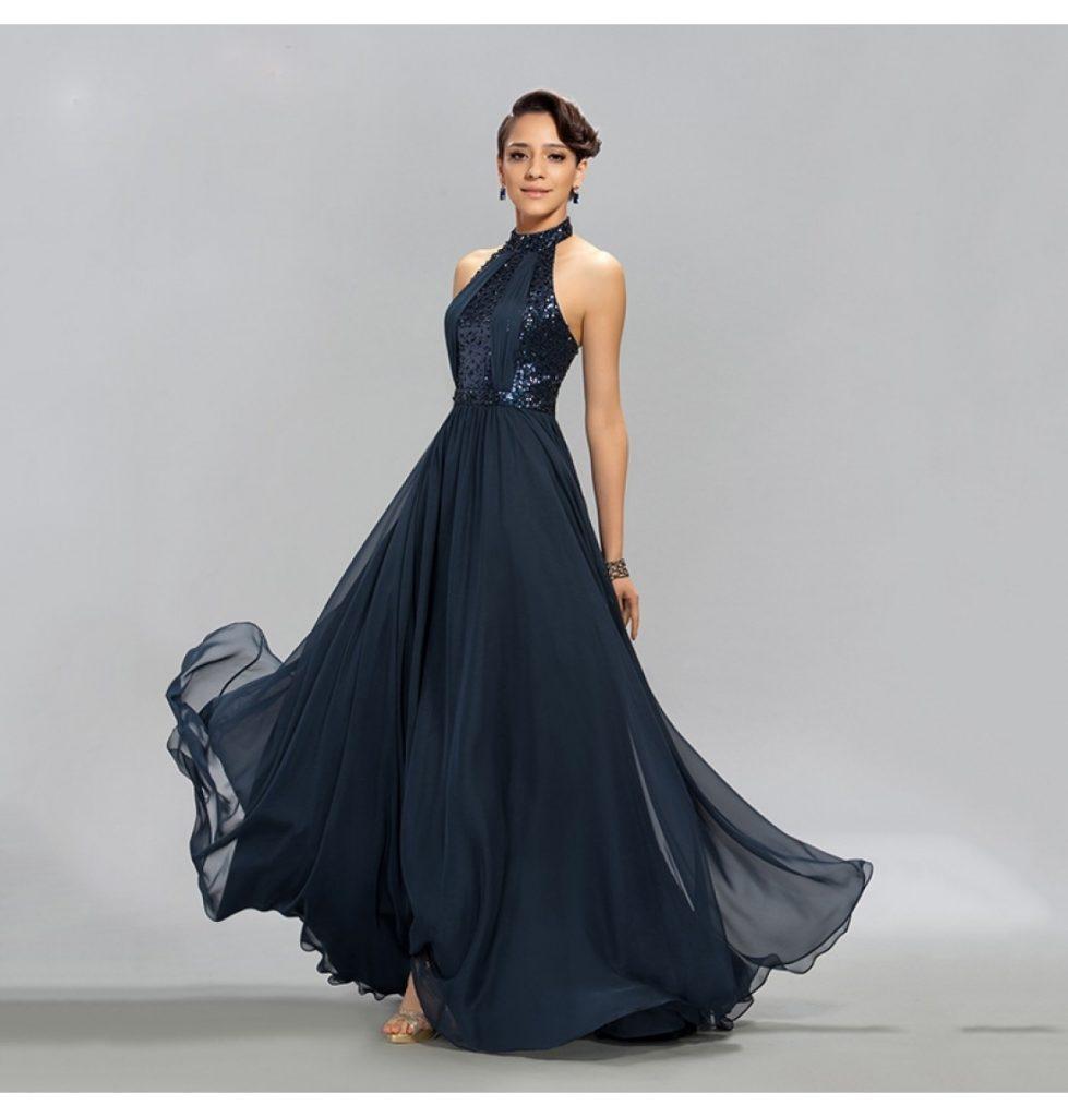 Schön Abendkleid Neckholder Design - Abendkleid