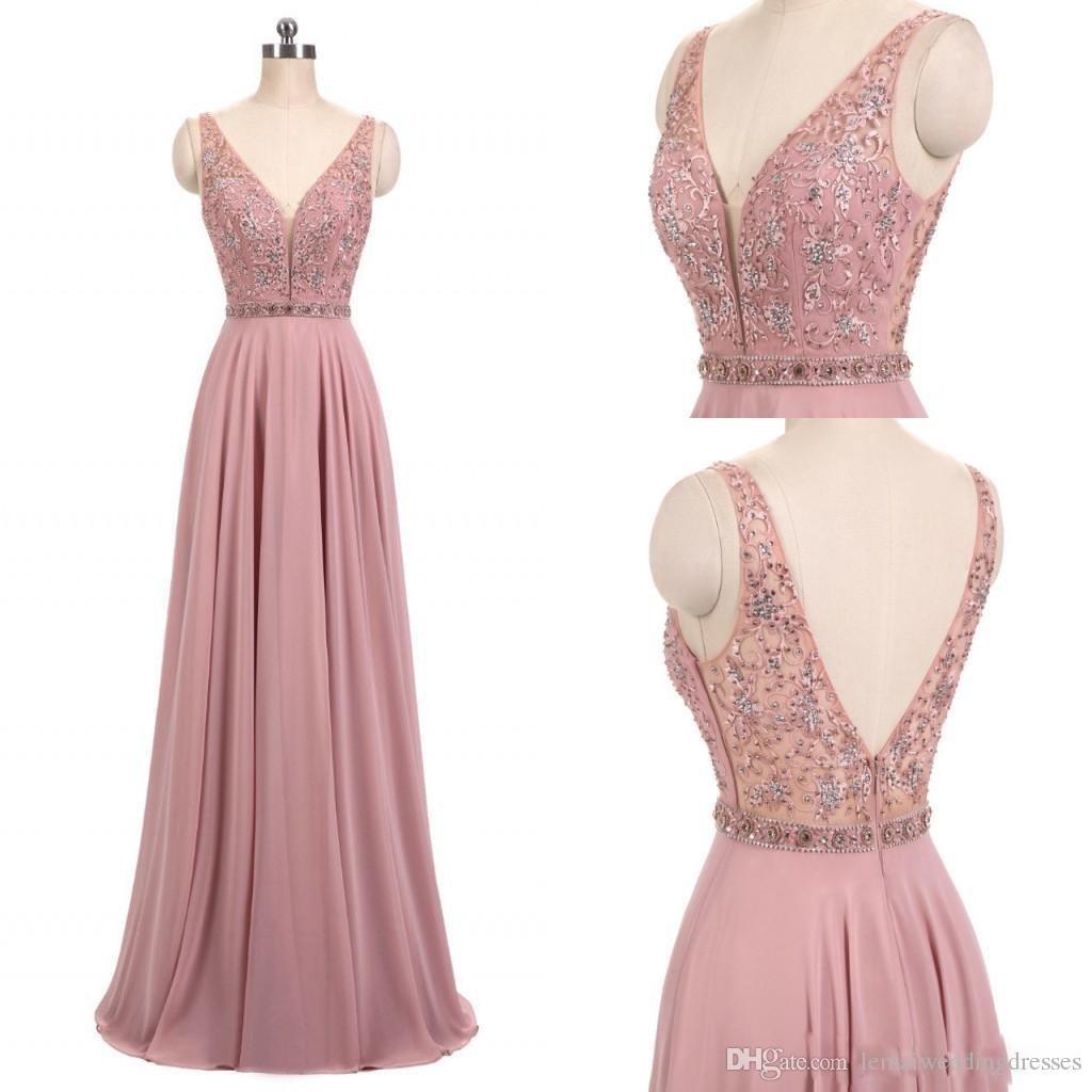 schön rosa kleid a linie Ärmel - abendkleid