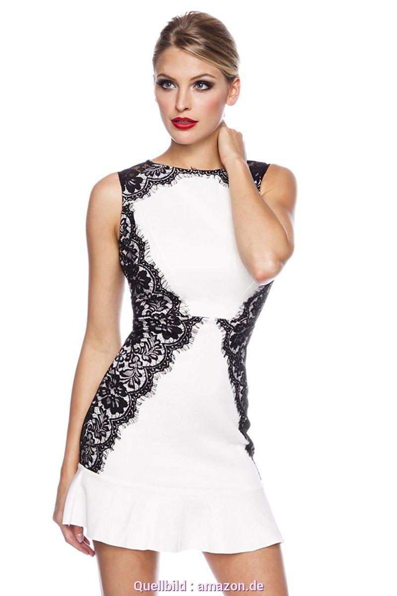 schön schwarz weißes kleid stylish - abendkleid