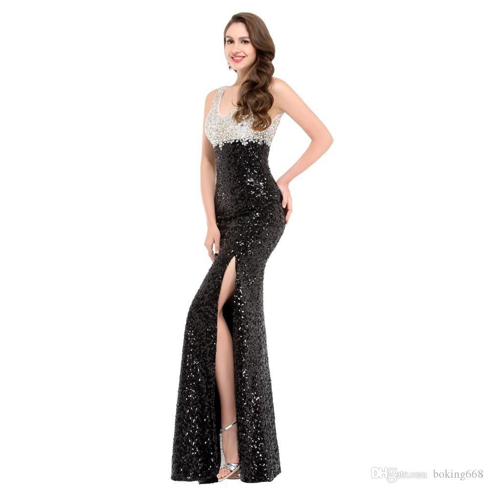 10 Ausgezeichnet Schwarzes Langes Kleid Mit Glitzer für 2019Designer Kreativ Schwarzes Langes Kleid Mit Glitzer Galerie