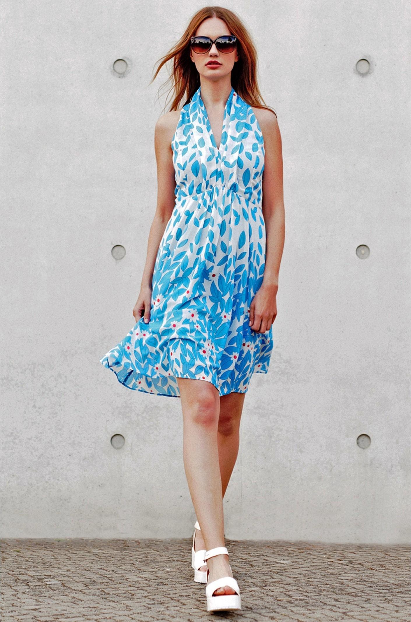 Designer Schön Sommerkleid Blau Boutique10 Luxus Sommerkleid Blau Spezialgebiet