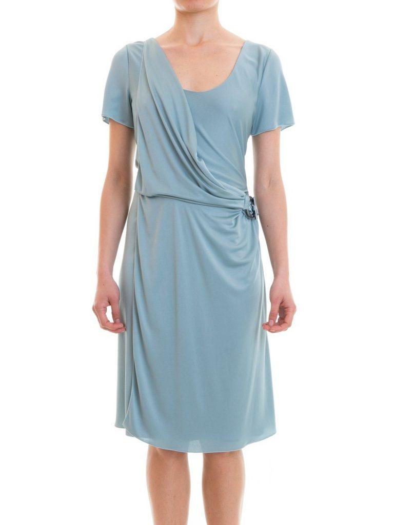 Top Kleid Hellblau Knielang Boutique - Abendkleid
