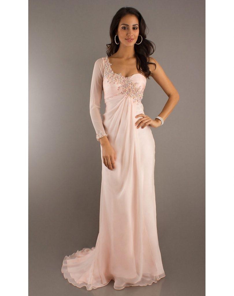 Top Kleid Rosa Langarm Stylish - Abendkleid