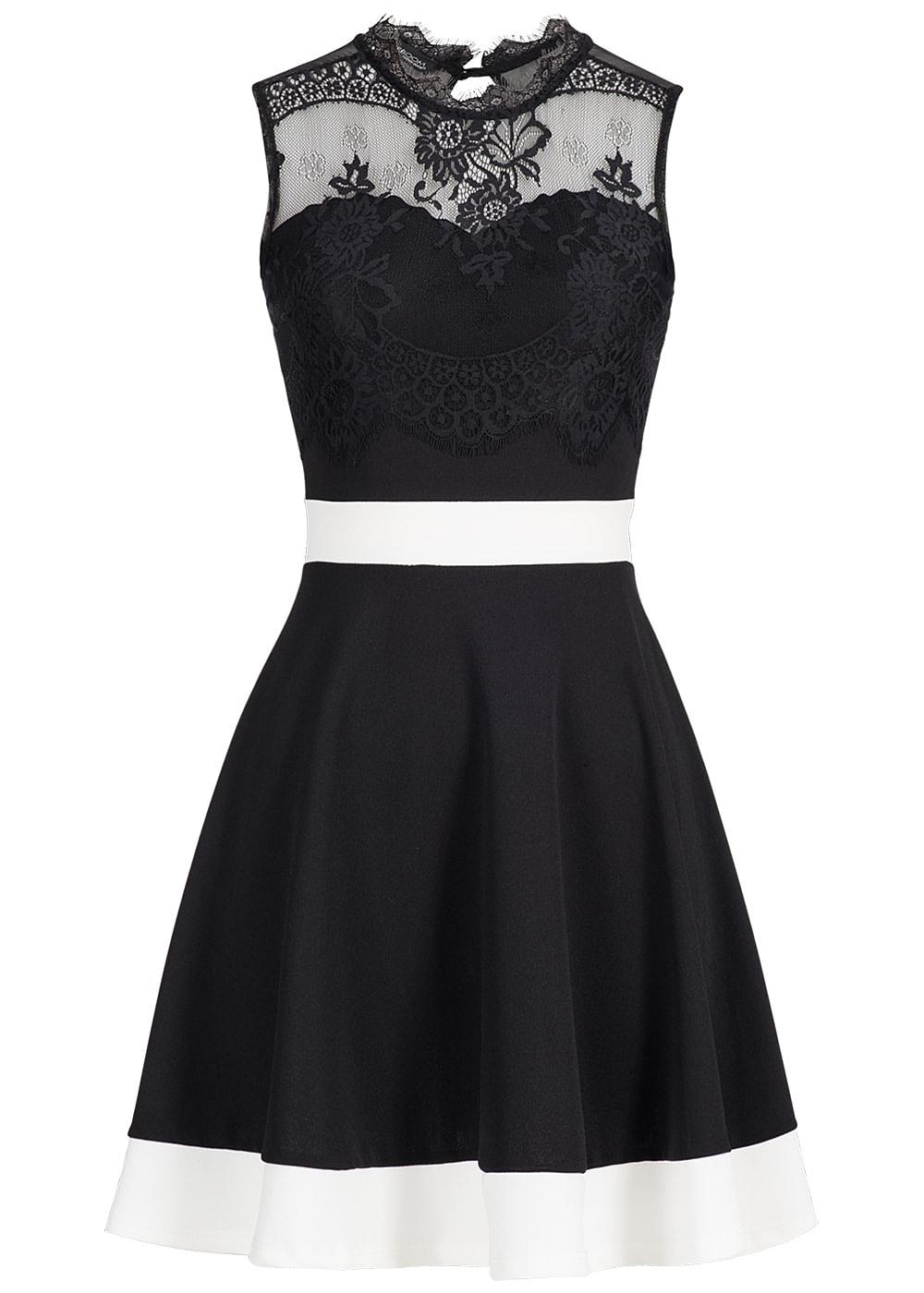 top schwarz weißes kleid bester preis - abendkleid