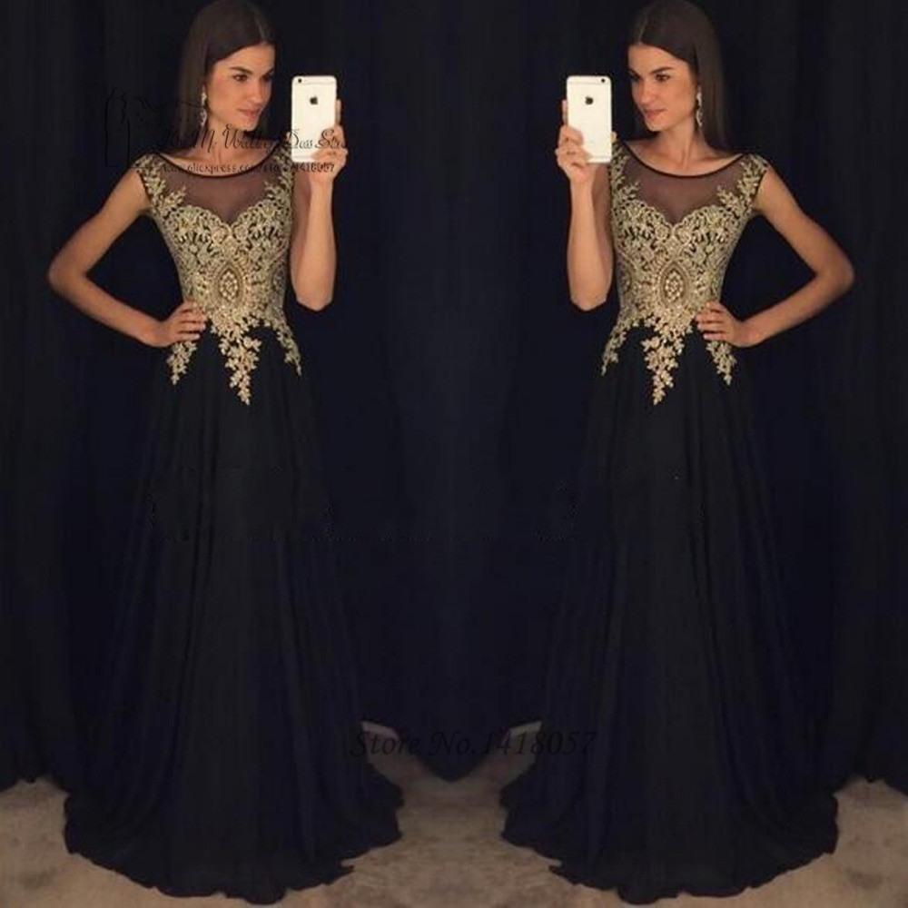 12 Fantastisch Abendkleid Schwarz Gold Lang Stylish - Abendkleid