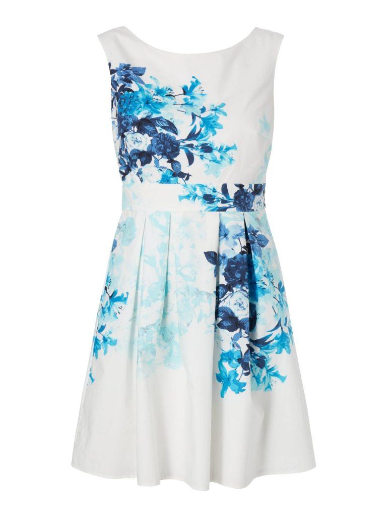 13 genial blaues kleid mit blumen Ärmel - abendkleid