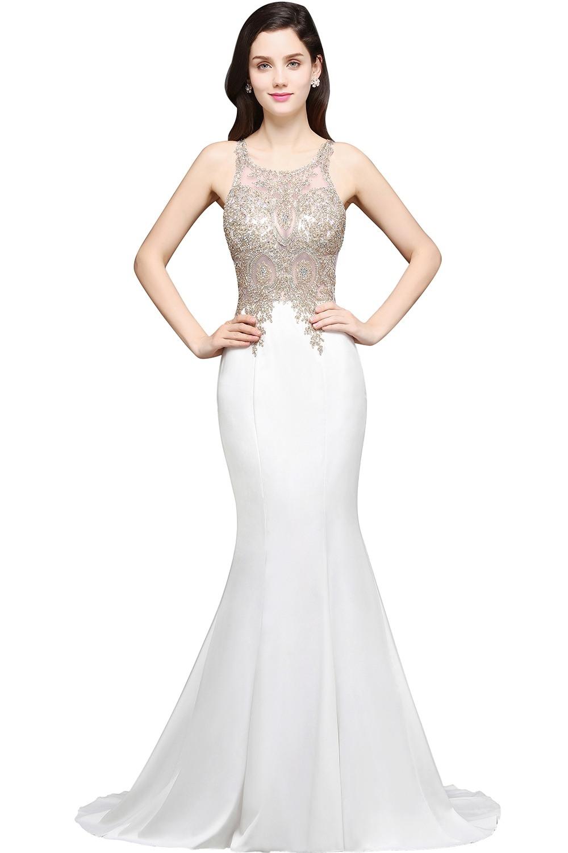 Schön Abendkleid Weiß Lang Vertrieb13 Spektakulär Abendkleid Weiß Lang Design