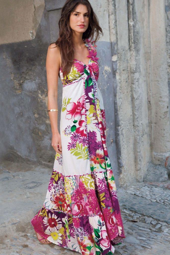 half off fe806 f7dbc 13 Schön Kleid Lang Blumen Stylish - Abendkleid