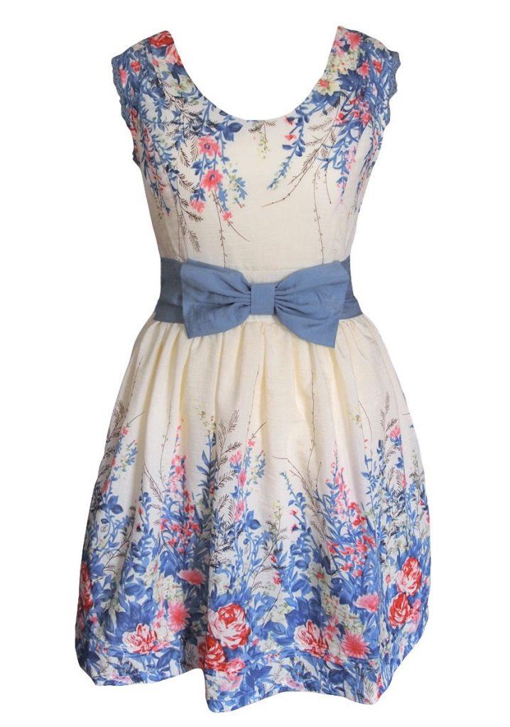 15 Fantastisch Blaues Kleid Mit Blumen für 2019 - Abendkleid