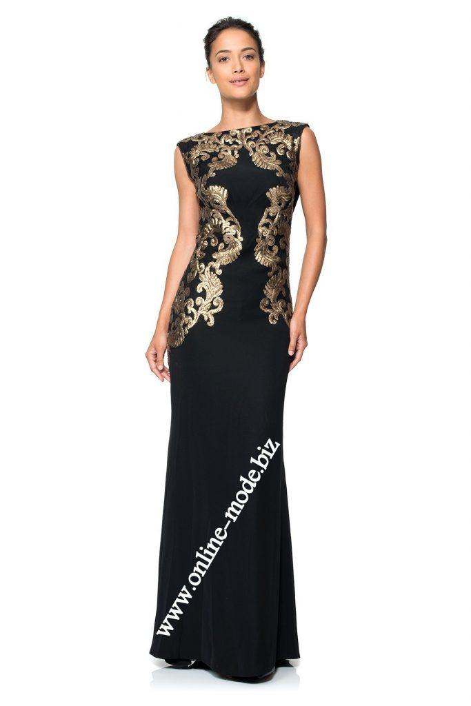 best website 5de91 ad53a 15 Luxurius Abendkleid Schwarz Gold Lang Ärmel - Abendkleid