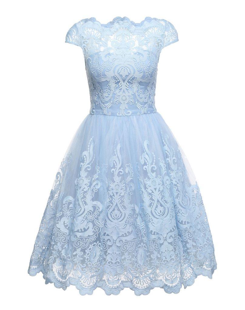17 Perfekt Kleid Spitze Hellblau Galerie - Abendkleid