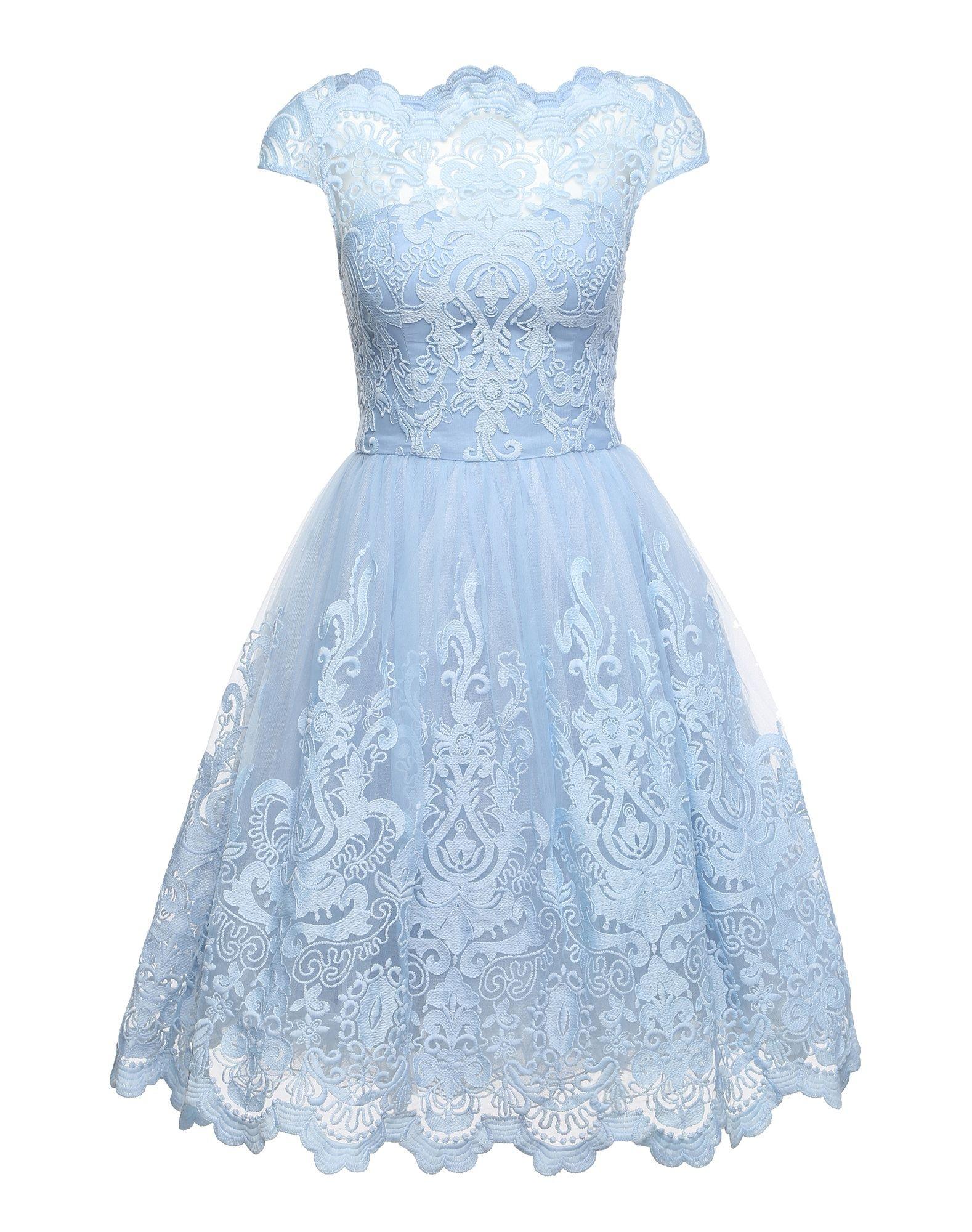 17 Luxus Kleid Spitze Hellblau SpezialgebietFormal Spektakulär Kleid Spitze Hellblau Design