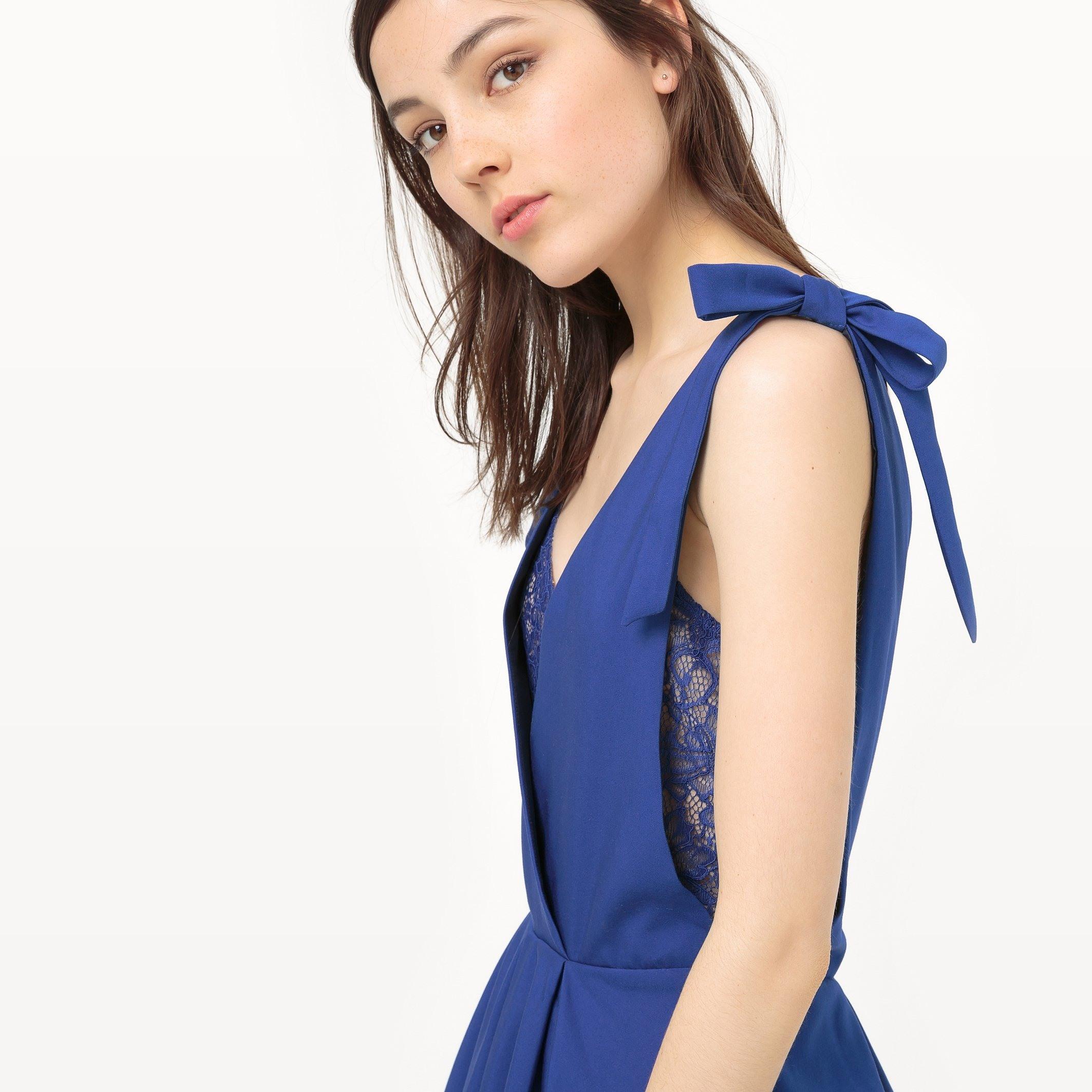 15 Schön Kleid Blau Mit Spitze ÄrmelDesigner Luxus Kleid Blau Mit Spitze Ärmel