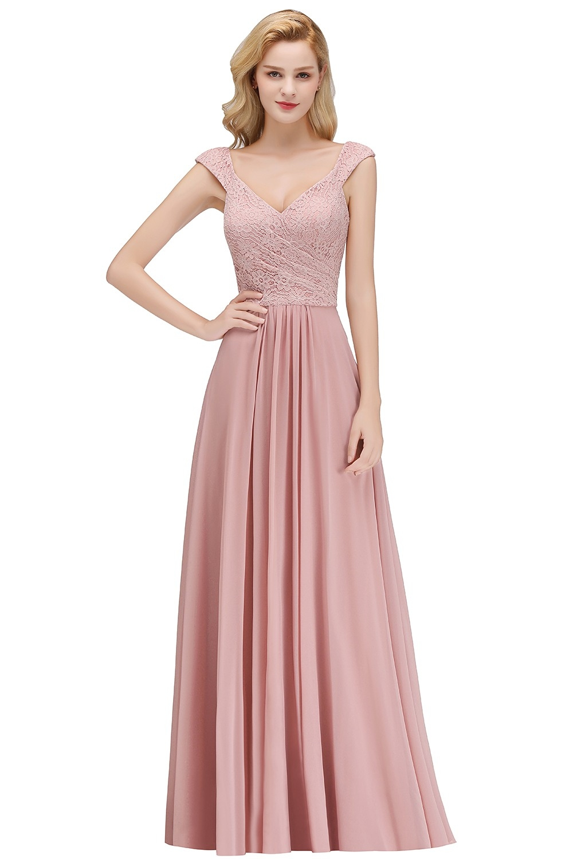 Formal Genial Kleid Lang Altrosa Bester PreisFormal Leicht Kleid Lang Altrosa Ärmel