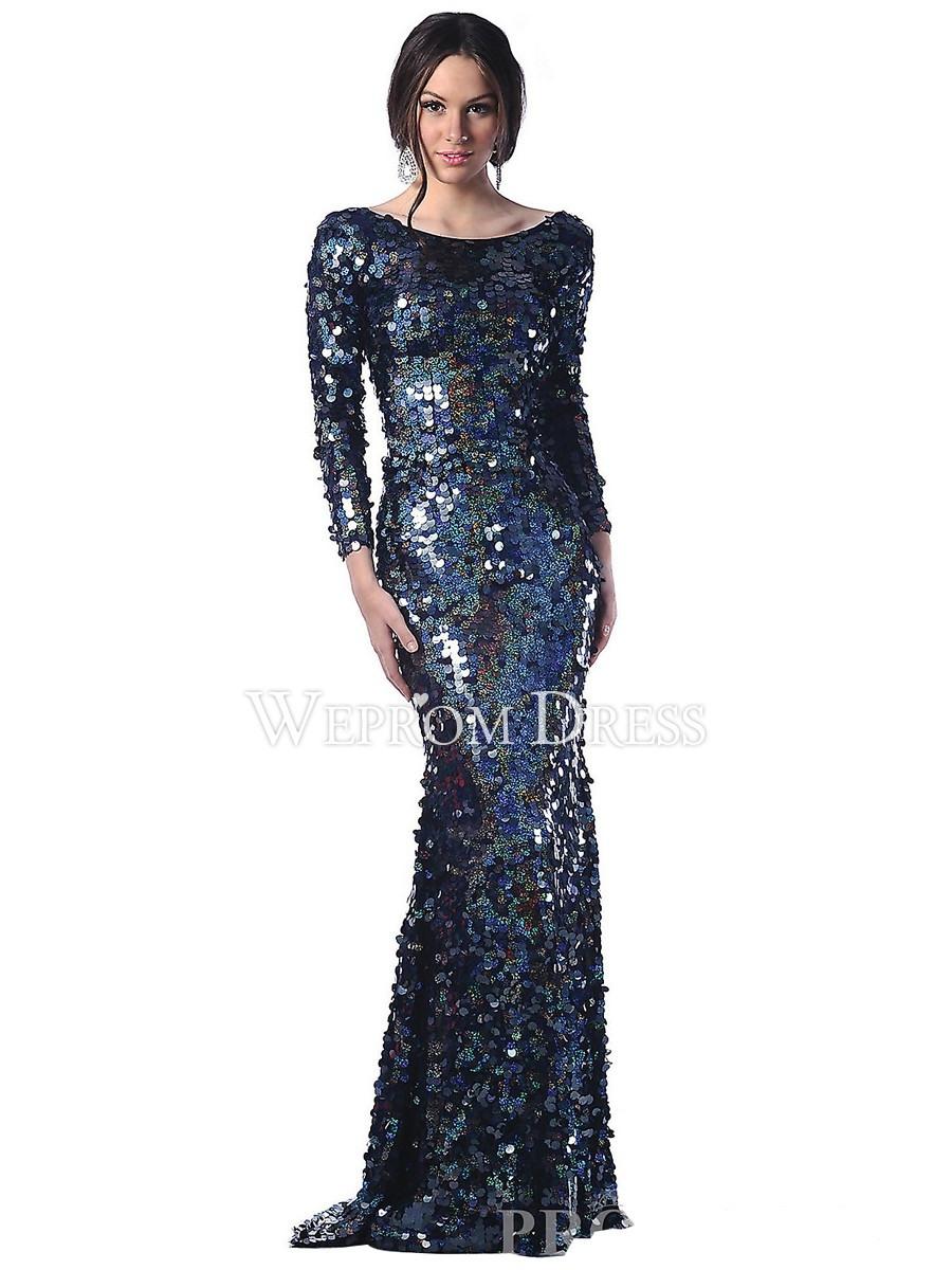 11 Einfach Abendkleid Lang Schwarz Pailletten Spezialgebiet