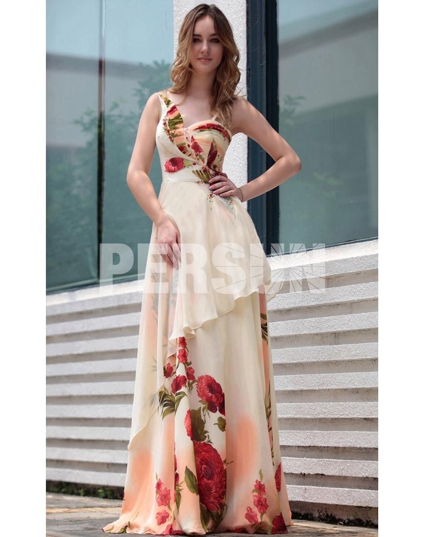 Designer Ausgezeichnet Kleid Lang Blumen ÄrmelAbend Schön Kleid Lang Blumen Vertrieb