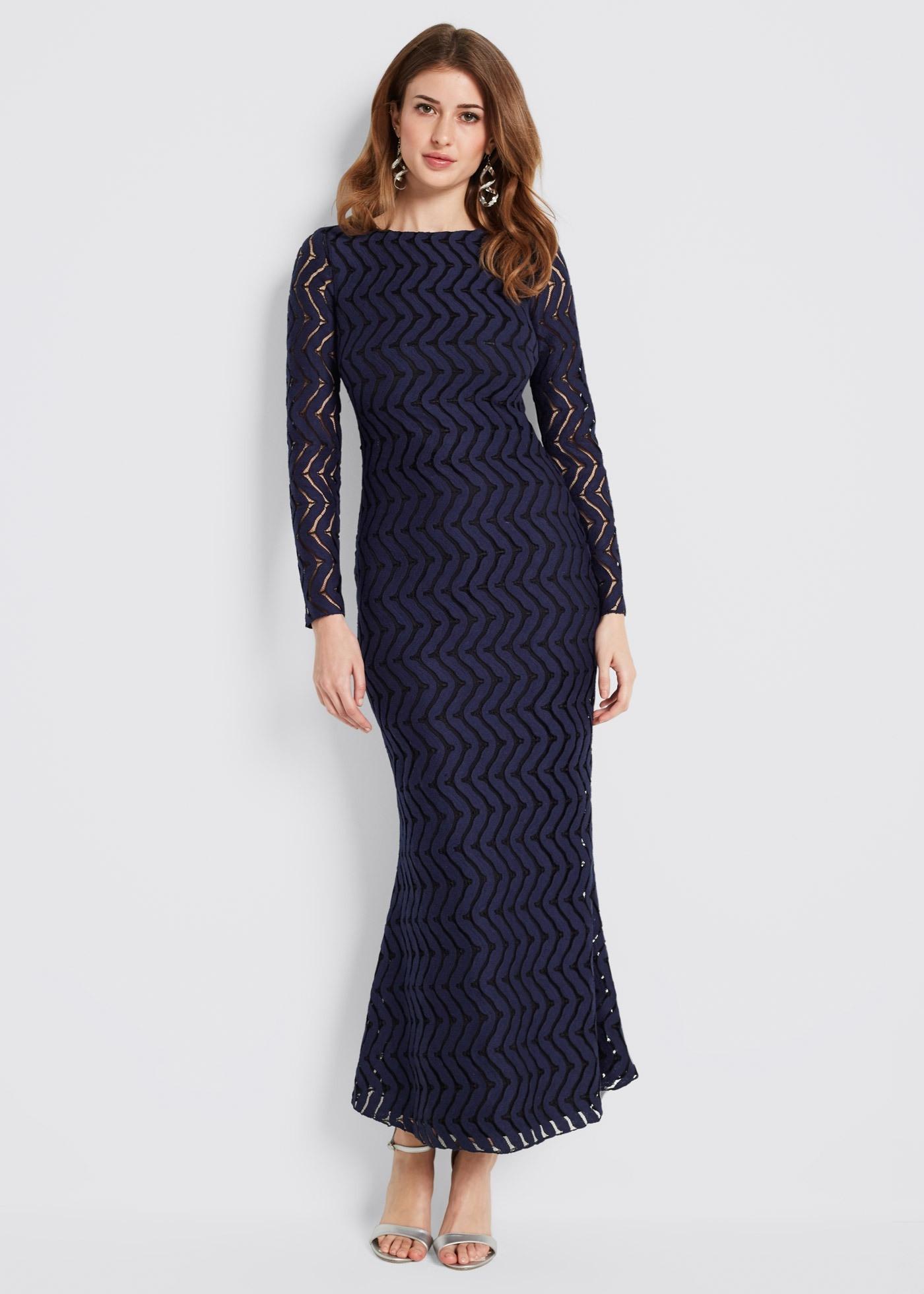 17 Wunderbar Spitzenkleid Blau Langarm Bester Preis Luxurius Spitzenkleid Blau Langarm Design