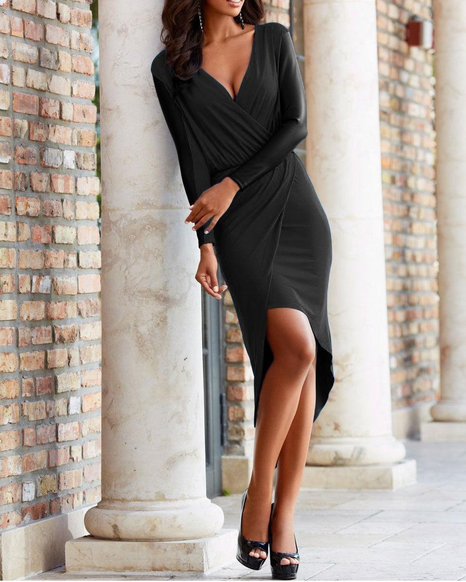 15 Ausgezeichnet Wickelkleid Abendkleid Ärmel13 Schön Wickelkleid Abendkleid Stylish