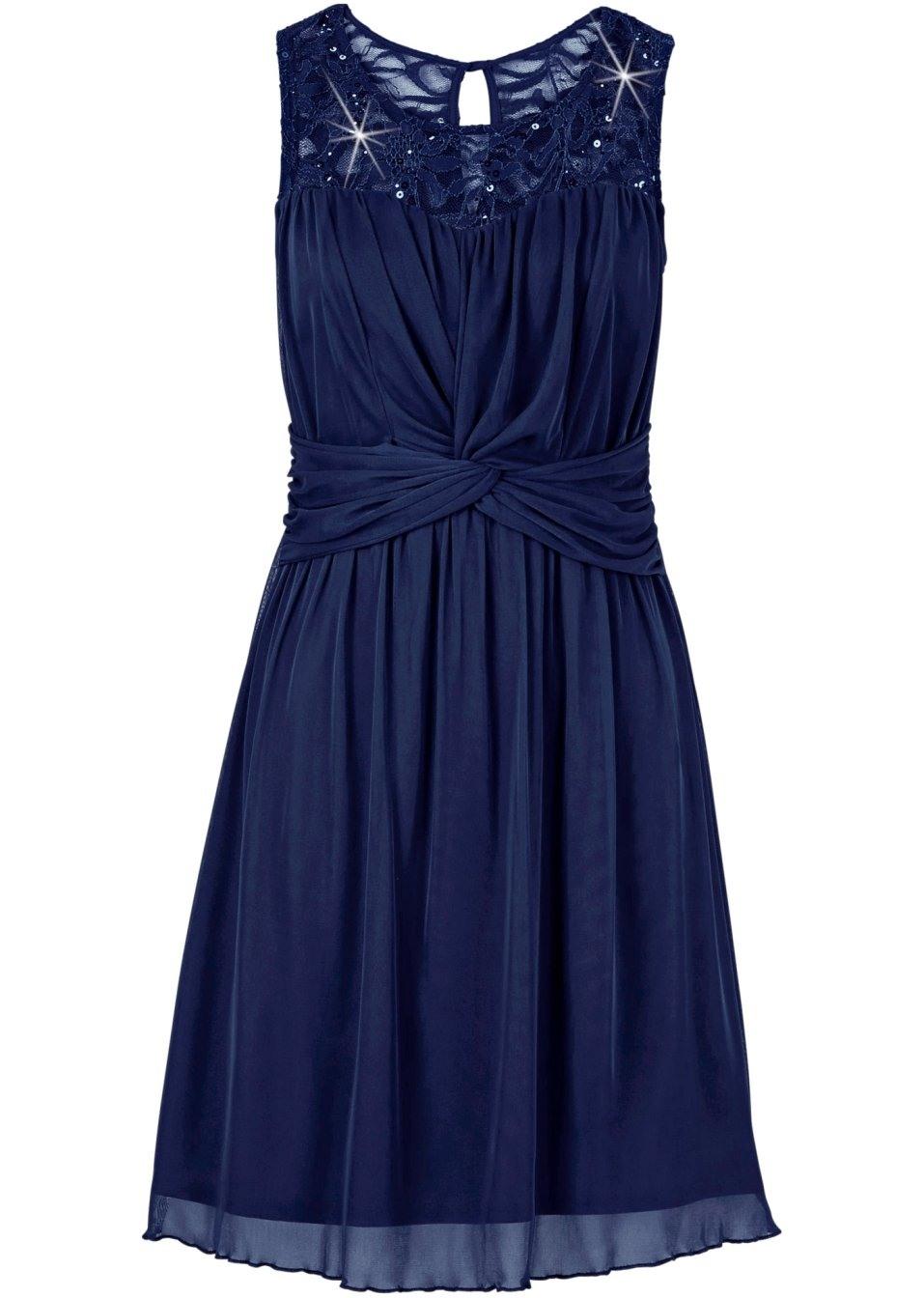 Abend Perfekt Spitzenkleid Blau Langarm DesignDesigner Einfach Spitzenkleid Blau Langarm Design
