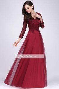 abend elegant abendkleider lang rot spitze design  abendkleid
