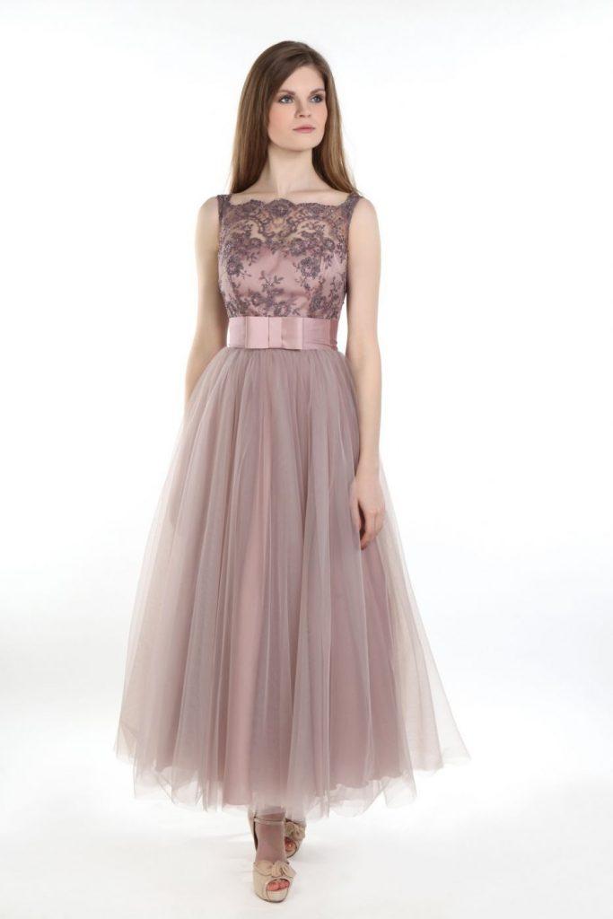 Abend Elegant Kleid Altrosa Kurz für 2019 - Abendkleid