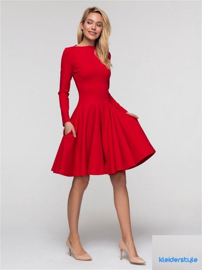 abend leicht kleid rot midi vertrieb - abendkleid