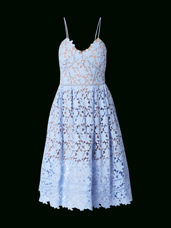 Abend Schön Kleid Spitze Hellblau Stylish - Abendkleid