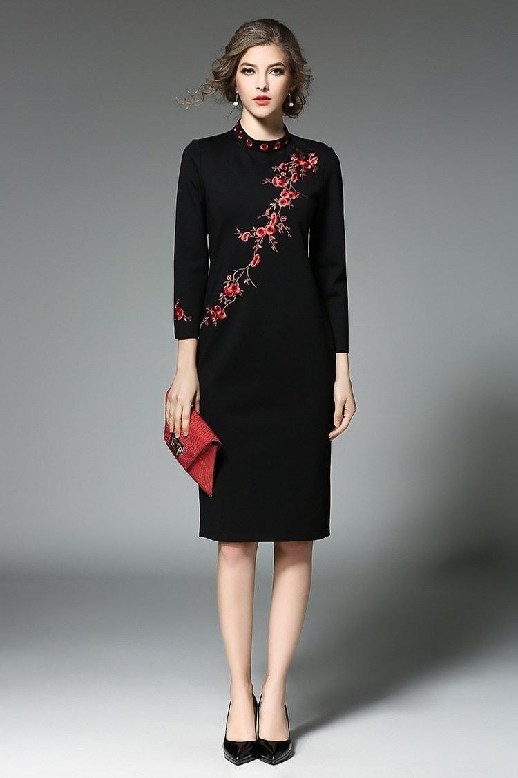 Designer Schön Winterkleider Frauen ÄrmelAbend Kreativ Winterkleider Frauen Boutique