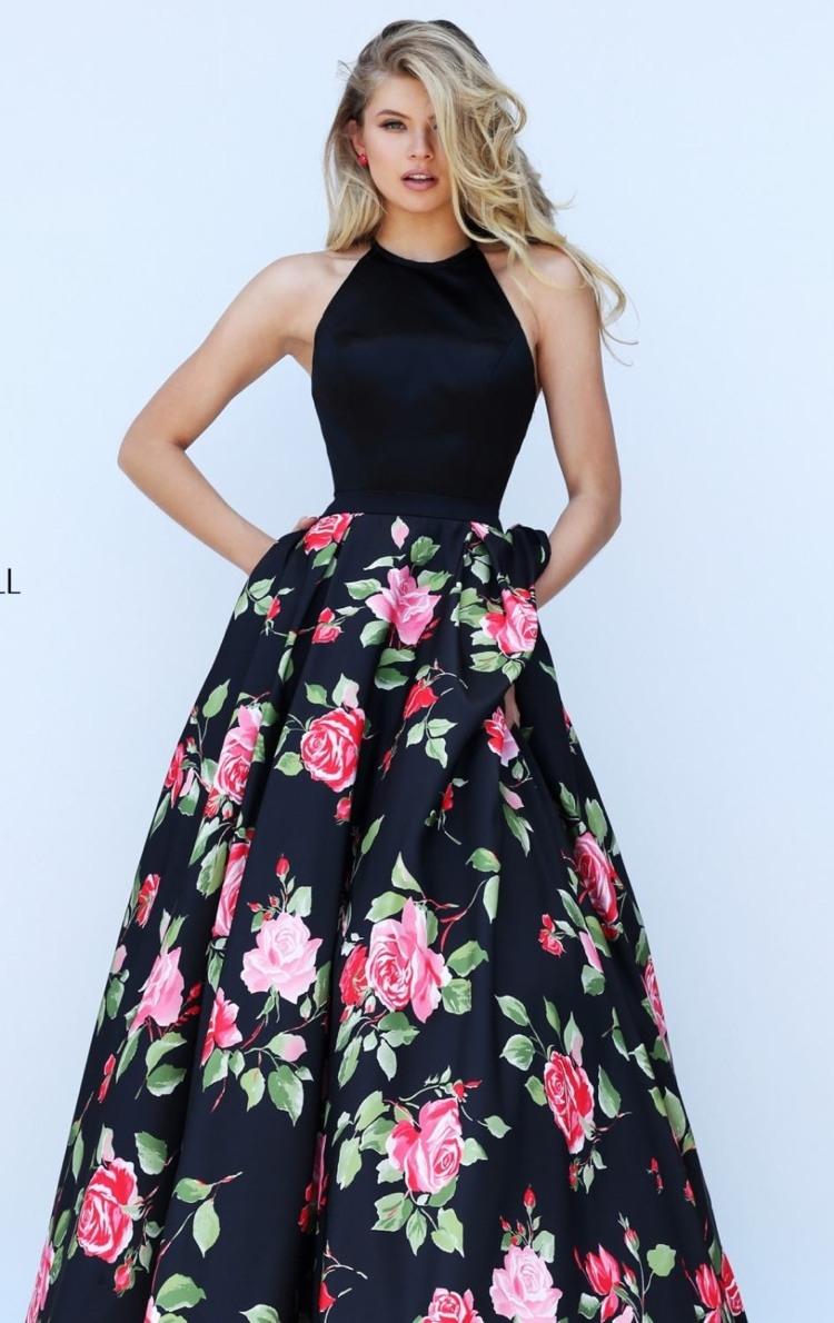 Formal Einzigartig Kleid Lang Blumen Bester PreisDesigner Perfekt Kleid Lang Blumen Stylish