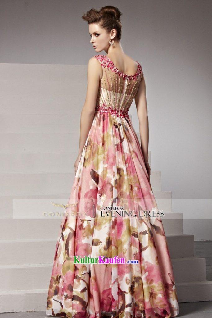 quality design e2716 41b77 Designer Einzigartig Kleid Lang Blumen für 2019 - Abendkleid