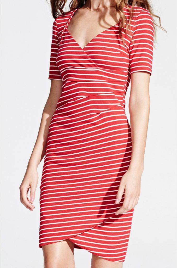 best service 8688e c69a6 Designer Elegant Rot Weißes Kleid Boutique - Abendkleid