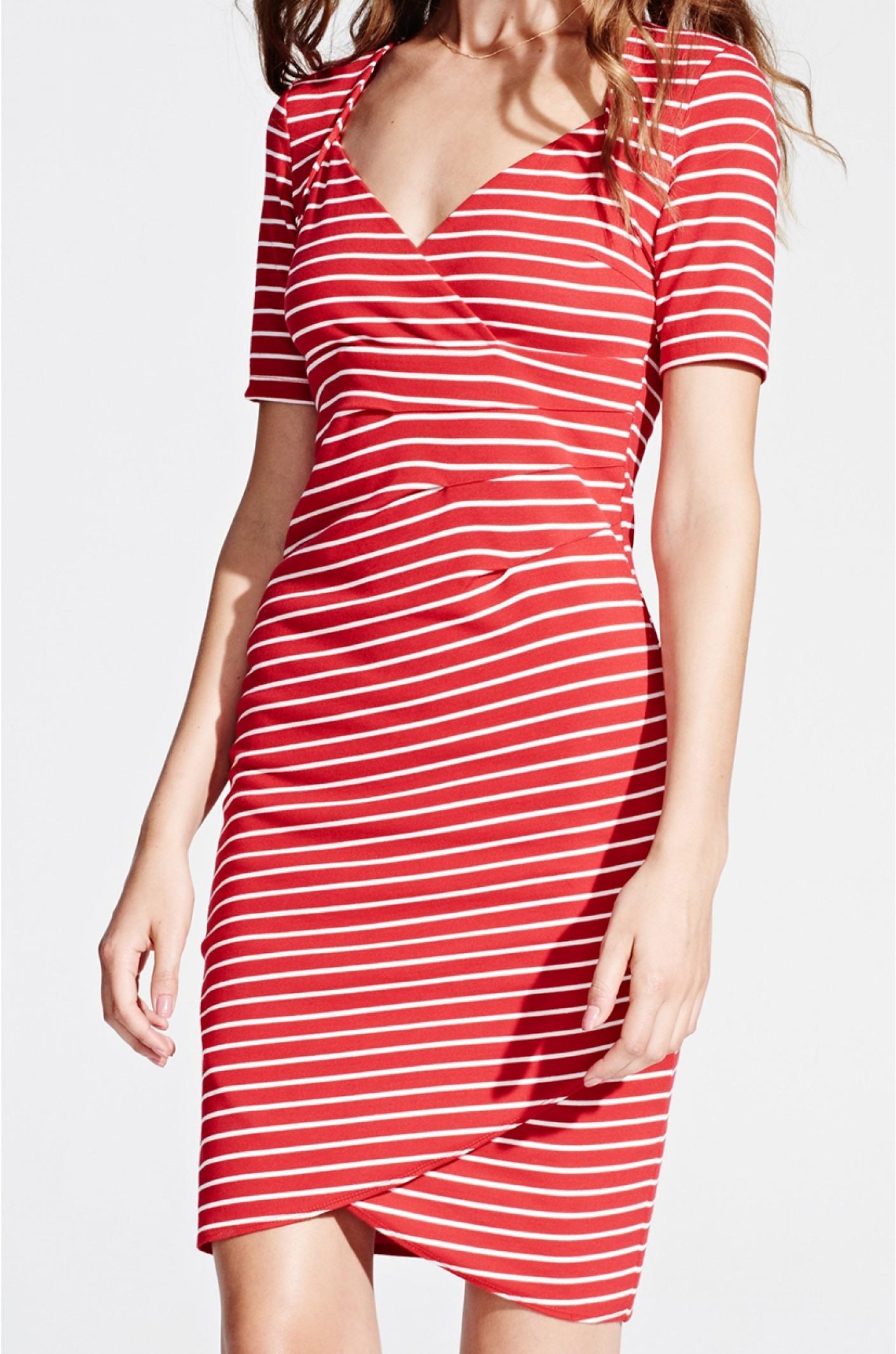 best service 33965 88d1b Designer Elegant Rot Weißes Kleid Boutique - Abendkleid