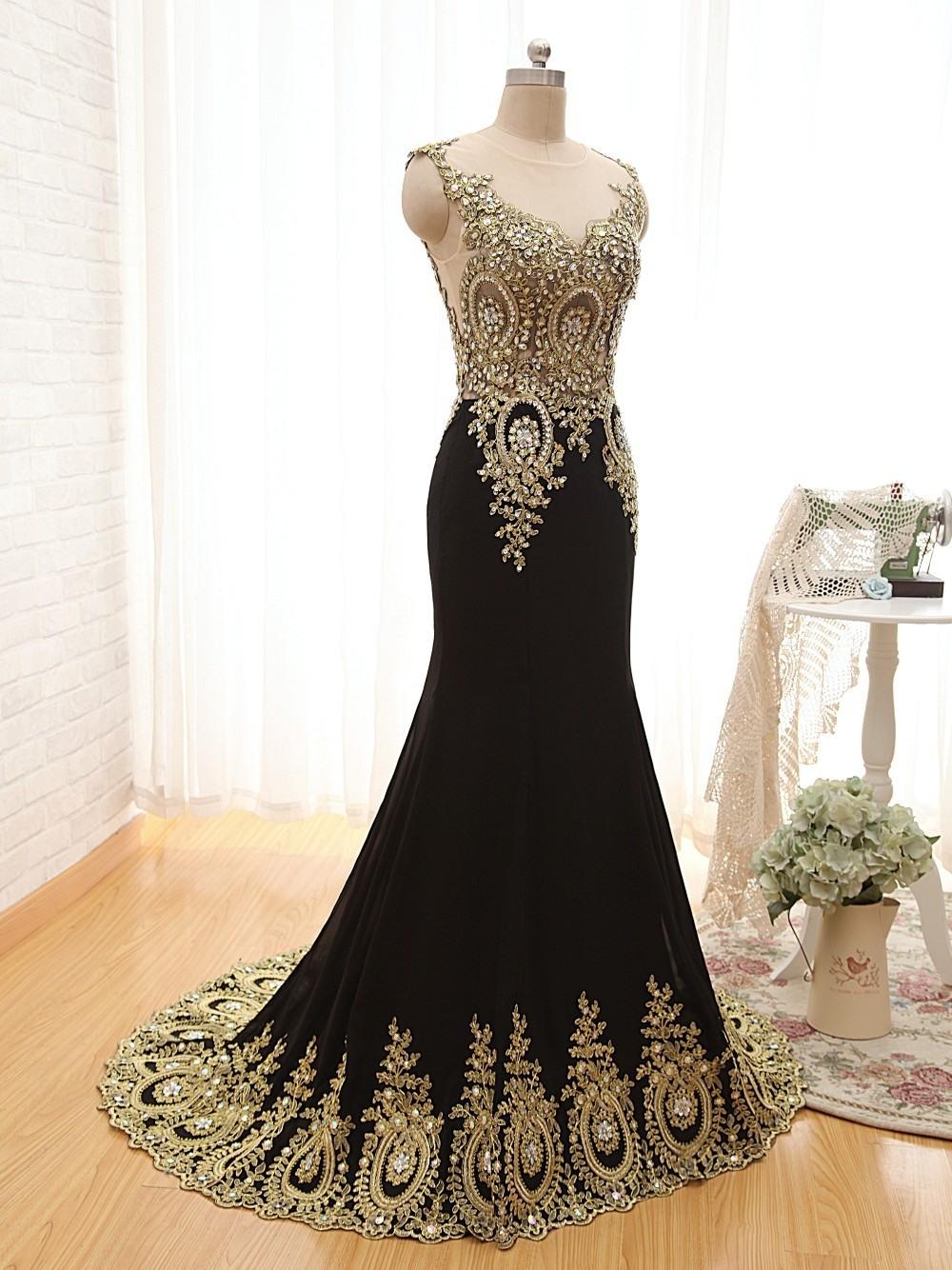 15 Coolste Abendkleid Schwarz Gold Lang Boutique Cool Abendkleid Schwarz Gold Lang für 2019