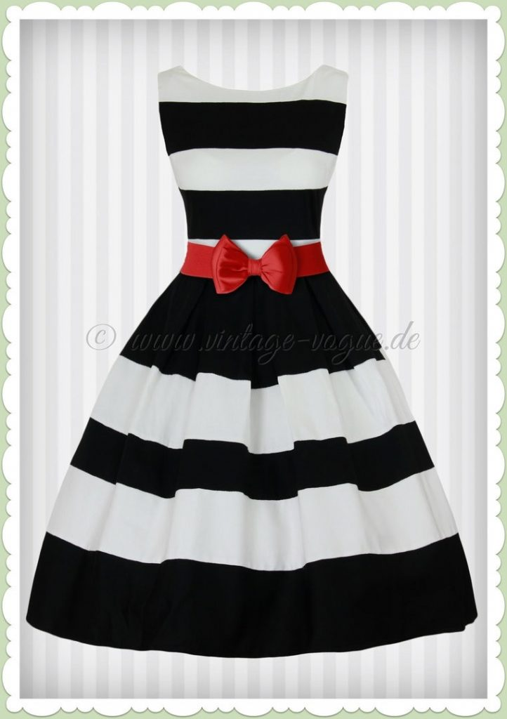 Designer Spektakulär Schwarz Weiß Kleid Spezialgebiet ...