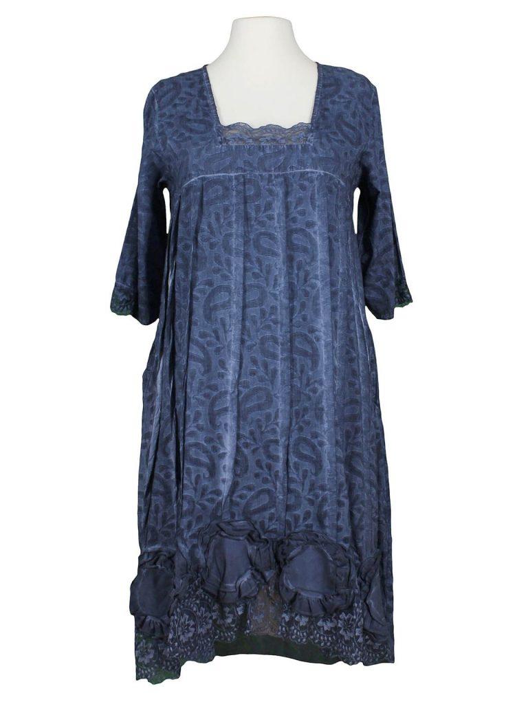 Erstaunlich Kleid Blau Mit Spitze für 18 - Abendkleid