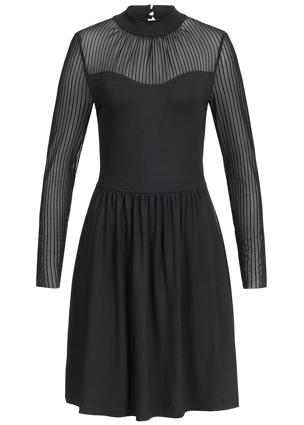 Einfach Langarm Kleid Schwarz DesignFormal Schön Langarm Kleid Schwarz Spezialgebiet