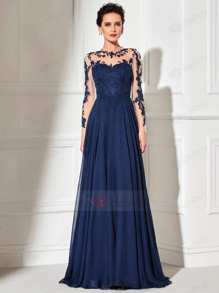 Formal Coolste Abendmode Lang Ärmel - Abendkleid