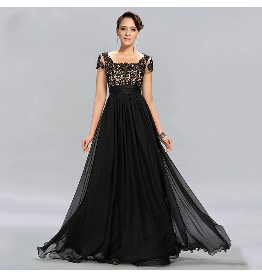 Designer Erstaunlich Abendkleid Lang Schwarz Spitze SpezialgebietDesigner Coolste Abendkleid Lang Schwarz Spitze Stylish