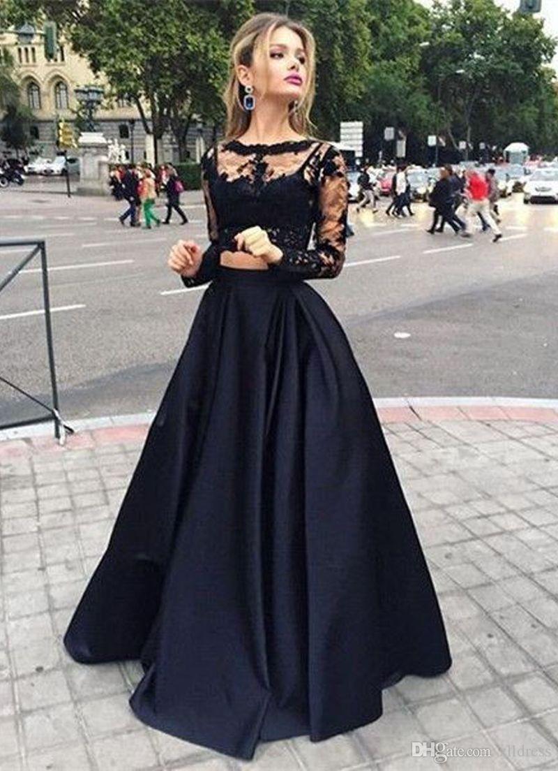 20 Einfach Abendkleid Lang Schwarz Spitze StylishAbend Elegant Abendkleid Lang Schwarz Spitze Stylish