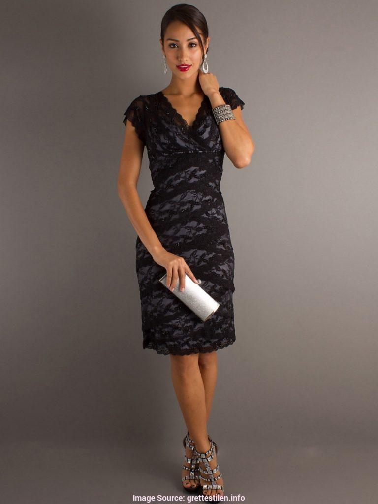 formal elegant festliche kleider knielang schwarz boutique