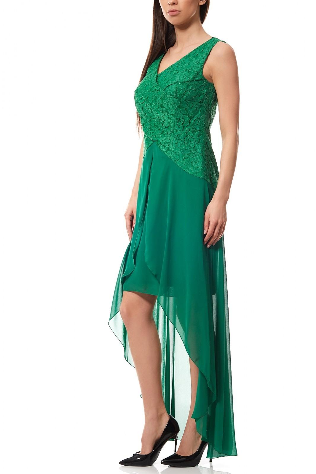 Formal Luxurius Kleid Grün Spitze StylishDesigner Schön Kleid Grün Spitze Vertrieb
