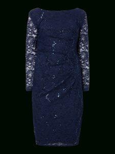 Abend Schön Spitzenkleid Blau Langarm Spezialgebiet13 Elegant Spitzenkleid Blau Langarm Ärmel