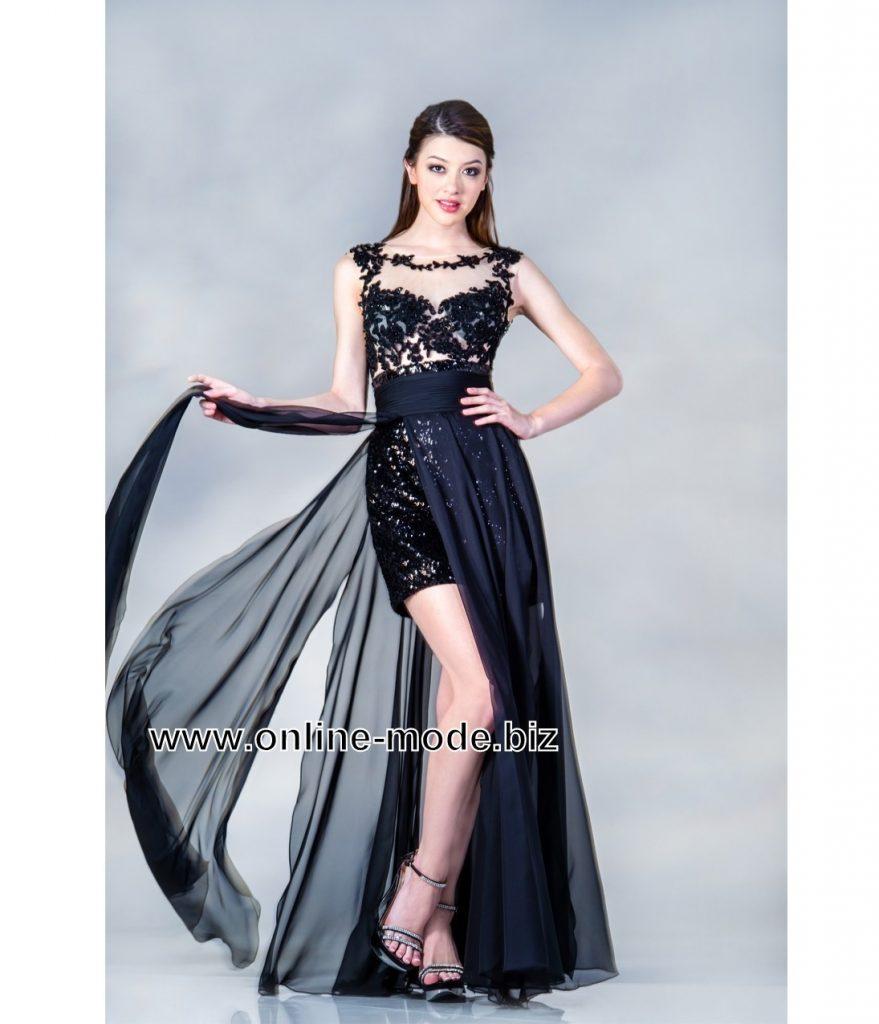 Großartig Abendkleider Lang Und Kurz Ärmel - Abendkleid