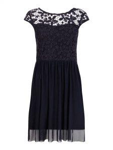 Abend Elegant Kleid Blau Mit Spitze für 201910 Schön Kleid Blau Mit Spitze Vertrieb