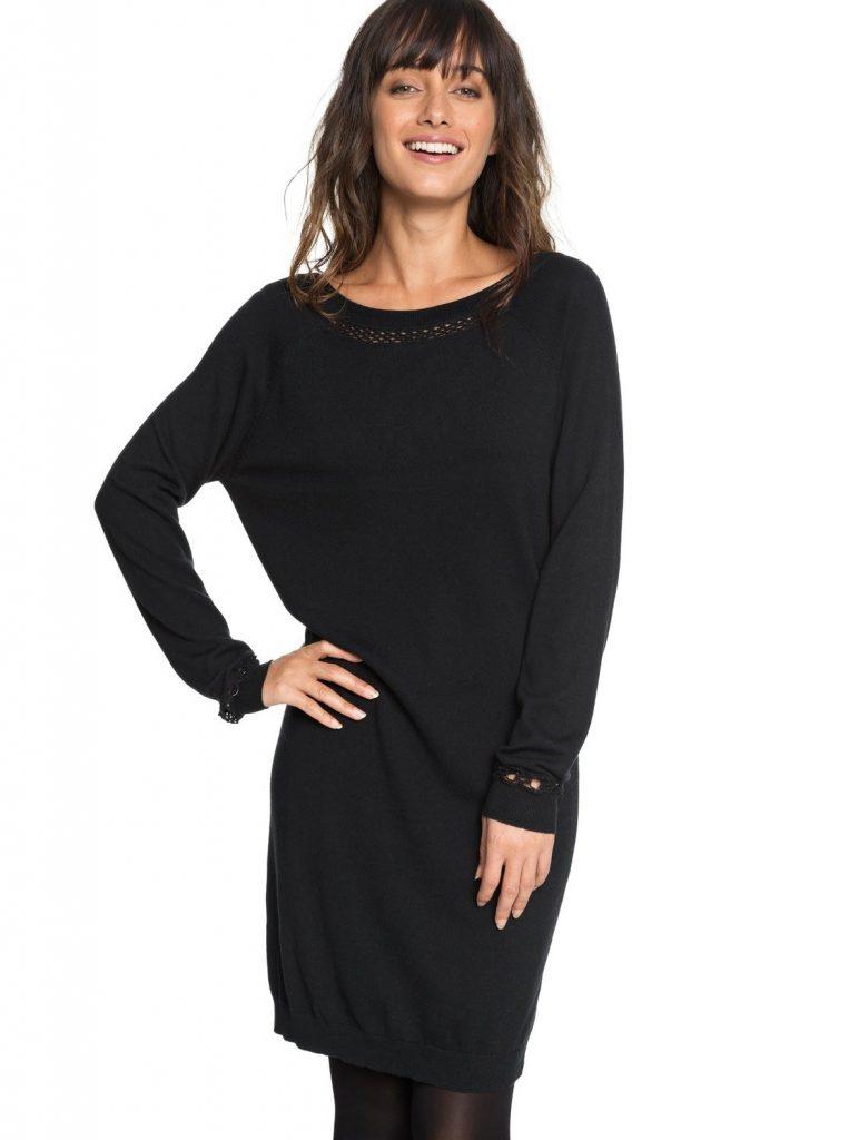 Wunderbar Langarm Kleid Schwarz für 2019 - Abendkleid