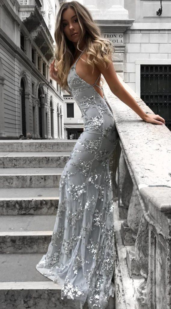 13 Einzigartig Abendkleider Glitzer Lang Ärmel - Abendkleid