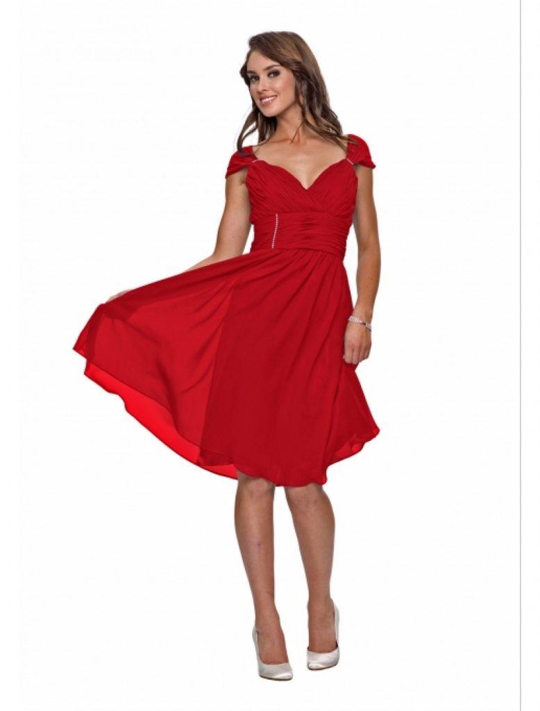 15 Schon Rotes Kleid Knielang Boutique Abendkleid