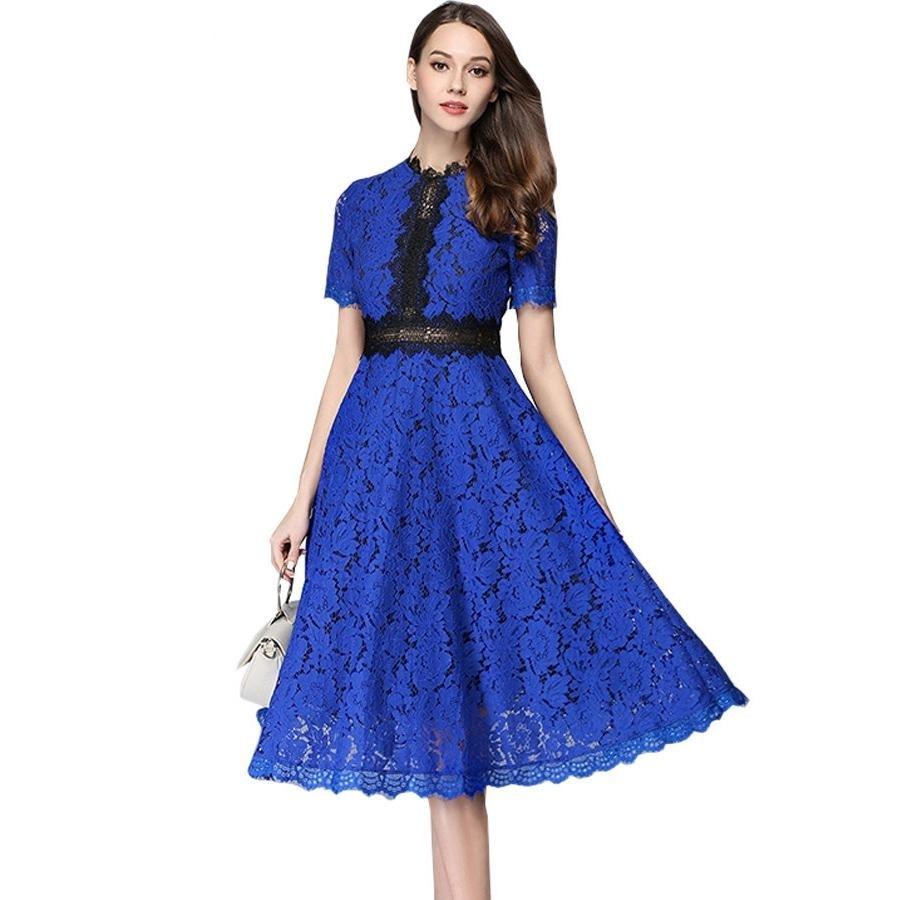 10 Genial Kleid Blau Spitze für 2019 Coolste Kleid Blau Spitze Bester Preis